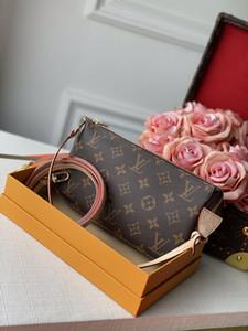 la producción de cuero bolso de entrega libre de la bolsa de hombro de la manera clásica de calidad superior M40712 doble bolsa de hombro Messenger Bag bolso de las mujeres
