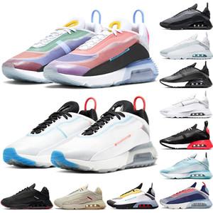 Nike Air Max 2090 Кроссовки Мужчины Женщины Мужские Кроссовки Stock X Чистая Платиновая Утка Camo Bred Тройной Черный Белый Высокое Качество Спортивные Кроссовки Размер 36-45