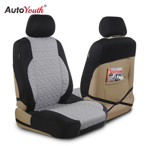 AUTOYOUTH Cotton Cloth Universal Four Season Fashionable Car Seat Cushion Cover for Front of 2 Seats Automobiles Car Protector