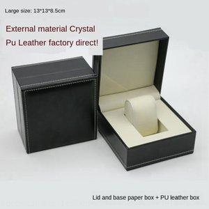Display stoccaggio orologio cuoio dell'unità di elaborazione personalizzata imballo singolo gioielli box guardare bagagli stampa a caldo modello K6iO6