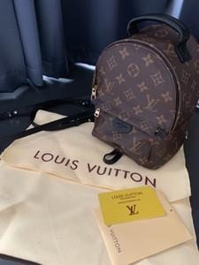 Palm Springs Mini PM MM 3 Superficie mochila mochilas los niños del cuero genuino cuero de las mujeres impresión mejor fábrica de las mujeres mini MM / PM mochila