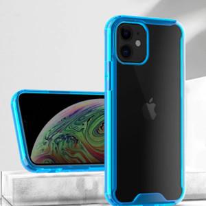 Для iPhone 12 Pro Max Прозрачный ТПУ Акриловый чехол противоударный Drop-Испытано задняя крышка для iPhone 11 XS XR 7 8 Plus