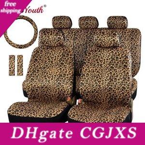 Autoyouth Leopard Imprimer voiture Seat Cover Universal Fit Seat Pads ceinture, 15 direction universel roue Protecteur voiture