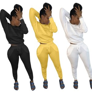 Women plus size 2 piece set fall winter clothes solid tracksuit sweatshirt pants sweatsuit pullover leggings outfits hoodies hot sell 0339