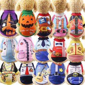 Halloween Noël Chien Chat Gilet Vêtements Pull Veste Manteau Puppy Automne / Hiver Vêtements Cartoon Vêtements T-shirt fournitures pour animaux lxj172