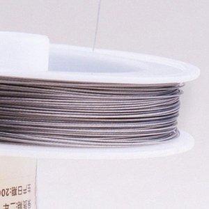 Новый Tiger Tail Бисероплетение Wire Craft Wire - 80 м / 0.45mm / Silver VFX3 #