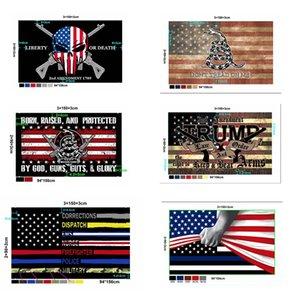 New Style America Flag Customized 90*150cm Trump 2020 Keep America Great Flag USA Flags American Presidential Election Flags IIA657