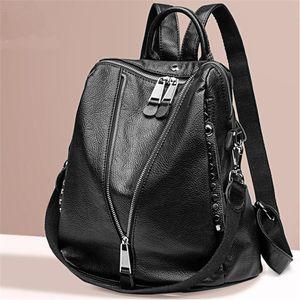 bolsa de viaje Diseñador fábrica de cremallera bolsa de piel de Lichi Mochila College School mochilas para audífono de la vendimia mujeres del morral de la manera de la mochila