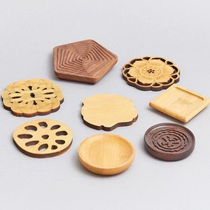 Customized creative solid wood coaster placemat, anti-scald and thermal insulation wooden placemat