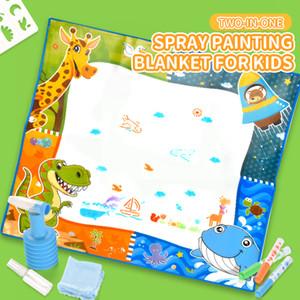 Дети спрей холст волшебная шесть акварели холст пишущего одеяла картины мат раннего образования подарки ребенок картине граффити детей доски