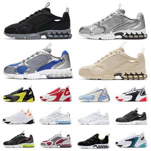 2020 nuovo arrivo Nike Air Zoom Spiridon Cage 2 Stussy FOSSIL ZOOM 2K Tennis Sport Sneakers Zoom 2k pattini correnti squadra college delle donne degli uomini formatori esterni