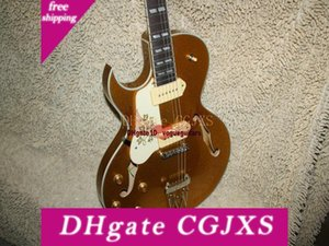 New Left Handed Guitar 175 Hollow Body Electric Guitar Goldtop Oem Guitare