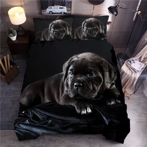 3d Animal Printed Bedding Sets Black Dog Printed Duvet Cover Set Queen King Quilt Cover Bed Linen