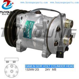 Alta calidad R134A SD7H15 ac bomba de aire auto compresor Renault VI 5001852624 5010229065