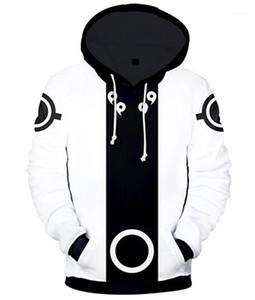 Mens Hoodies Designer Casual collare incappucciato allentato Pocket Mens cappuccio Moda a lungo Maschi manica Abbigliamento Naruto 3D Print