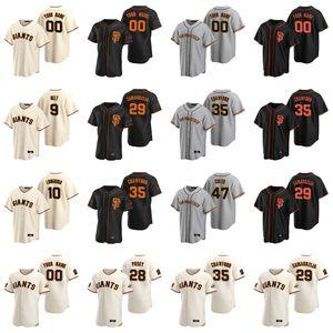 Beyzbol Formalar Kadın Stephen Vogt Jersey 29 Tyler Austin 25 Barry Bonds 44 Willie McCovey 24 Willie Mays 53 Austin Slater Özel Dikişli