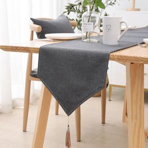 Nordic Tischläufer Baumwolle Leinen Startseite Tischdecke TV Schrank Lange Tischläufer Chinese Tea Table Ins Moderne Simple Light Luxuxbett Runner