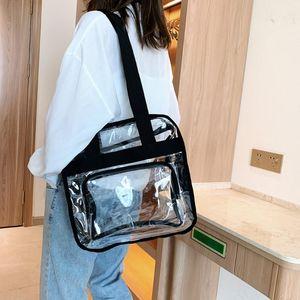 Crossbody Classic Messenger Shoulder Bag Women Vacation Female Transparent Handbags PVC Elegant Ladies Bqiqr