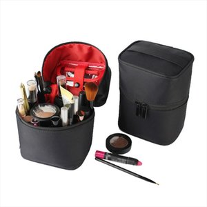 Women Barrel shaped Cosmetic Bag Make Up Case Zipper Beauty Wash Box Toiletry Organizer Beautician Necessary Travel Accessories