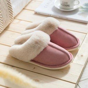Mulheres Moda Inverno Chinelos Plus Size interior casais Quarto sapatos quentes sapatos plana não escorregar Slipper