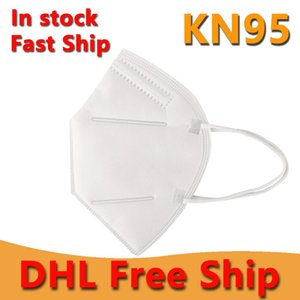 MÁSCARAS frete grátis DHL KN95 N95 CARA BOCA MÁSCARA anti-nevoeiro à prova de poeira à prova de Haze 4 camadas de proteção do metal nariz Máscara Atacado