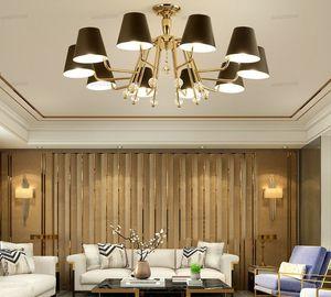 Постмодерн Минималистский Люстра Гостиная Лампа Спальня Study Hall Hotel Lobby Минималистский Golden Iron Атмосфера Люстра