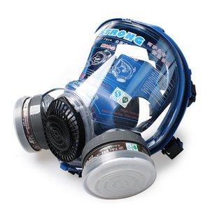 Double Full Silicon Cartridges breite Version Gesicht Gas Atemschutzmaske