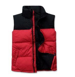 Mensentwerfer Weste Norden Winter-Männer unten puffer Jacke beiläufige Marken-Pullover unten Parkas warm Ski Herren Weste