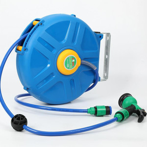 Automatic Retractable Hose Reel 50 Inches Flexible Car Washing Tool Household Garden Flowering Hose Winder with Multi-function HK3