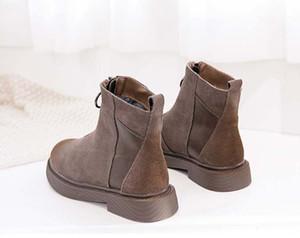 Mode cuir femmes chaussures femme étoile cuir courte automne femmes de la mode à la cheville d'hiver des bottes Martin Roman Cowboy B06 P13