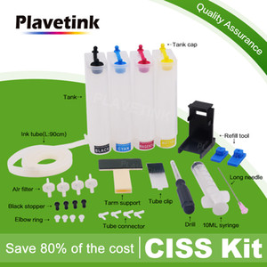 Plavetink Continuous Ink Supply System For 123 XL Cartridge For Deskjet 1110 2130 2132 2133 2134 3630 3632 3637 Printer