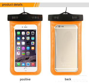 For iPhone11 30m Waterproof Case Diving Transparent Inch PVC Protective Mobile Phone Bag Beach Surfing Protective Cover Drifting Bag