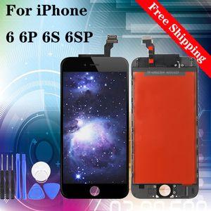 Super Screen qualidade para iPhone 6 6G 6P 6S 6SP LCD conjunto completo de toque digitalizador substituição Tela Branca Preto com ferramentas