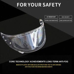 شفافة خوذة دراجة نارية عدسة لمكافحة الضباب المضادة للأشعة فوق البنفسجية السينمائي واضح جدا ميست قناع نظارات للحصول على ملصق للدراجات النارية Helmetpatch عدسة Okr3 #