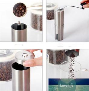 Silver Coffee Grinder Mini Stainless Steel Hand Manual Handmade Coffee Bean Burr Grinders Mill Kitchen Tool Crocus Grinders Capacity 40g 30g