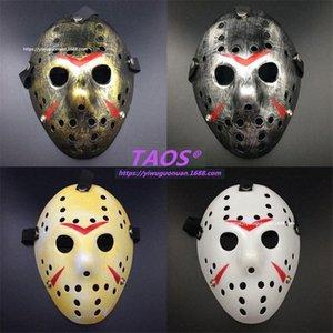Jason Voorhees Hockey Mask Film d'horreur Vendredi 13 masques pour Halloween Party, Cosplay, Festival, Noël, mascarade enfants Masquerad QpV6 #