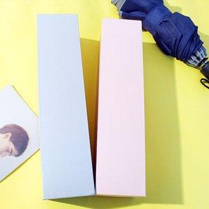 포장 파라솔 3 배 상자 블랙 핑크 실버 그레이 수렴 직사각형 선물 접는 우산 접는 우산 상자