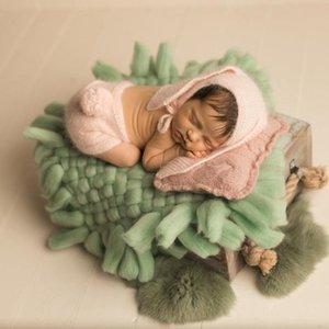 Новорожденные съемки Пледы Детские фотографии Реквизит Детские корзины Стуффер Filler кисточкой Одеяло Принимая Backdrop изображения