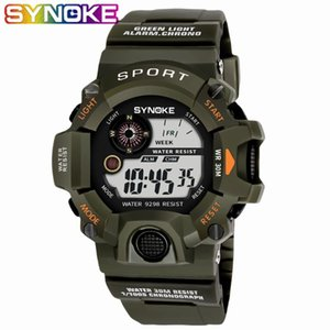 SYNOKE New Arrival G Montres Hommes Montres Sport LED Montres sport étanche Hommes Montres numérique