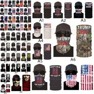 Trump Face Mask 2020 American Election US Flags Bandana Outdoor Cycling Magic Scarves Black Lives Matter Headband Turban Trump Masks CYZ2579