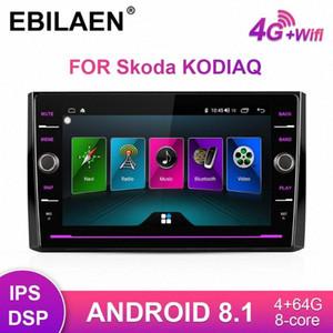 Rádio EBILAEN Car Multimedia DVD player para Kodiaq 2017 2018 Android 8.1 1DIN Autoradio GPS Navigation Tape Recorder IPS Car Dvd Simpl BRjZ #