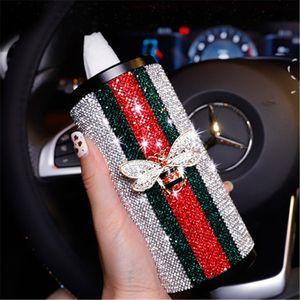 Arbeiten Sie beiläufiges neues Tissue-Box Luxuxentwerfer Rund Auto Schublade kreative Persönlichkeit Autozubehör Box dekorative Auto Tissue Box