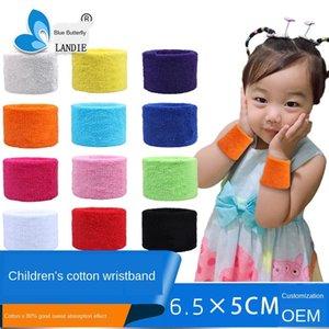 sport Wristband per bambini in cotone che assorbe il sudore batuffolo di volano di pallacanestro di volano regalo del tovagliolo braccialetto