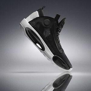 2020 Men Jumpman 34 Eclipse Snow Leopard Retro Basketball Shoes 34s XXXIV Blue Void Green Black Metallic Silver Sports Shoes Mens Sneaker