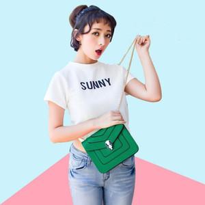 Дизайнер-Mini Square Bag Girls дизайнерские сумки известных брендов Коммуникатор Chain Top Quality плеча Diagonal Женщины Малый мешок Бесплатная доставка