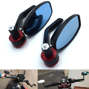 """Universal 7 8"""" 22mm Motorcycle Mirrors Rear View Handle Bar End Rearview Side Mirrors Oval for Suzuki DL1000 V-STROM TL1000R GSX"""