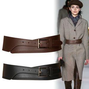 Fashion Spring Autumn Women Lady Fashion Color Soft Pu Leather Wide Belt Self Tie Wrap Waist Mujer Dress Pants pasek damski C0926
