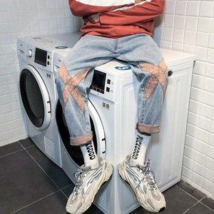 controllo di qualità dei jeans degli uomini online dei modo diritto jFRO8 2020 nuova estate allentato stile coreano popolare e jeans