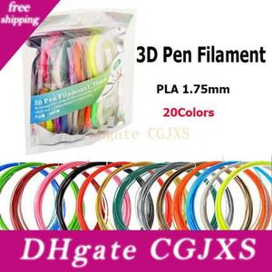 10m / Renkli 3d Kalem Filament Abs / Pla 1 .75mm 20 Renkler 30 Renkler 3d Yazıcı Filament Malzemeler İçin 3d Baskı Kalem DHL Ücretsiz