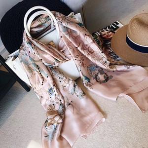 Schals 2021 Designer Damen Seidenschal 12 Konstellationen Tücher und Wraps Bandana Bufanda Foulard Beach Stoles